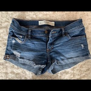 Abercrombie & fitch  size 0 jean shorts